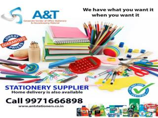 Get the stationery items on wholesale. Call at 9971666898.