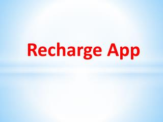 Free Recharge Online - Top Apps