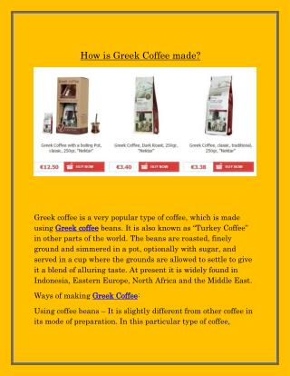Greek Coffee | greek-e-foodmarket.com