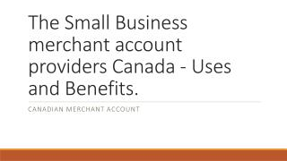 Canadian merchant account
