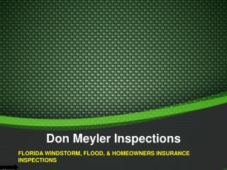Insurance Inspection Services