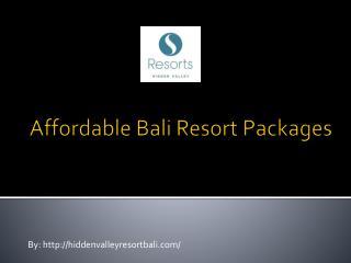 Affordable bali resort packages