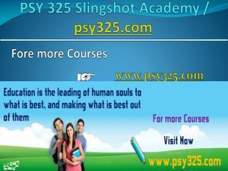 PSY 325 Slingshot Academy / psy325.com