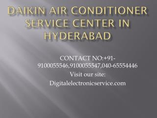 Daikin Air Conditioner Service Center in Hyderabad