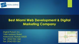 Best Miami Web Development Company : Digital Pursuit