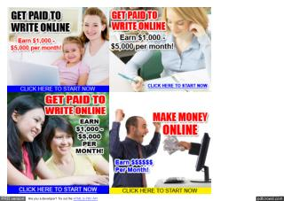 Get Paid to Write Online - Earn $1000 - $5000 Per Month