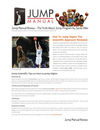 Tips For How To Increase Vertical Jump