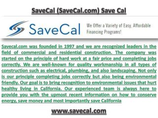 Save California with Savecal.com