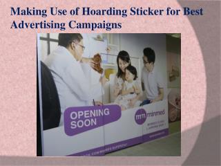 Singapore Hoarding Sticker