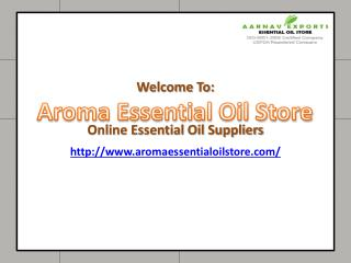 Essential Oils Store - Pure and Organic Essential Oil Suppliers in India