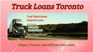 Truck Loans Toronto