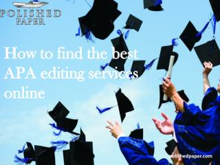 How to find the best apa editing services online
