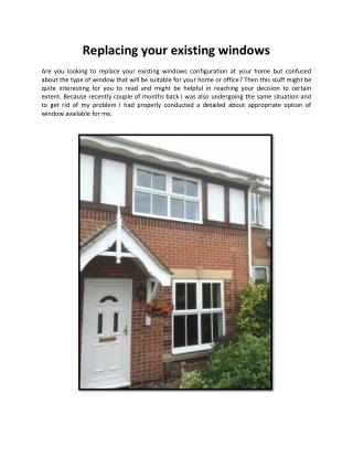 Replacing your existing windows