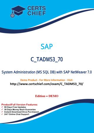 C_TADM53_70 Latest Free Exam Download