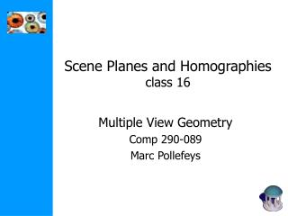 Scene Planes and Homographies class 16
