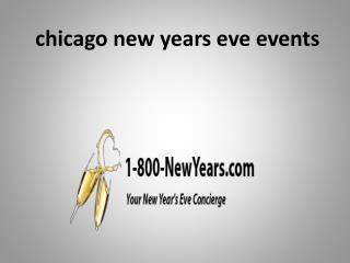 chicago new years eve events