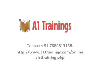birt report online trainings-course content