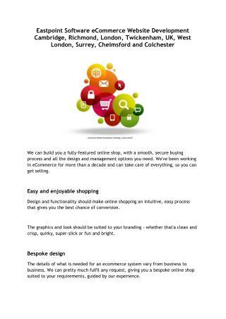 Eastpoint Software eCommerce Website Development Cambridge, Richmond, London, Twickenham, UK, West London, Surrey, Chelm