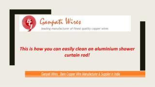 how you can easily clean an aluminum shower curtain rod