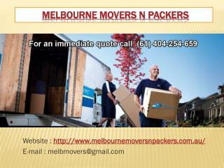 Melbourne Movers n Packers | Cheap Furniture Movers Melbourne