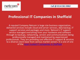 Professional IT Companies in Sheffield