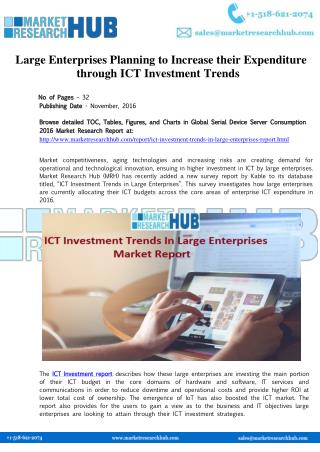 ICT Investment Trends in Large Enterprises Market Report