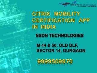 Citrix mobility certification app in India