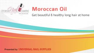 Moroccan Oil - Get beautiful and healthy long hair at home