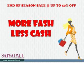 Satya Paul End of Season Sale | Go Online and Purchase Without Cash