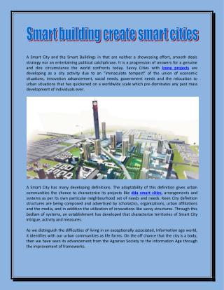Smart building create smart cities