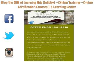 Give the Gift of Learning this Holiday – Online Training