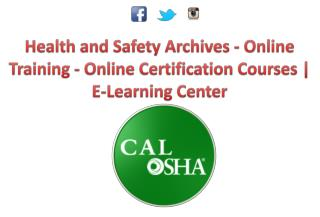 OSHA Health and Safety  Certifications Training