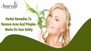 Herbal Remedies To Remove Acne And Pimples Marks On Face Safely