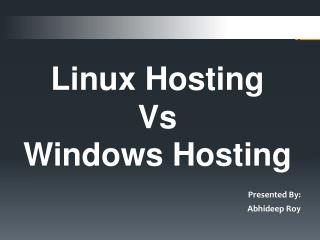 Comparison between Linux & Window hosting