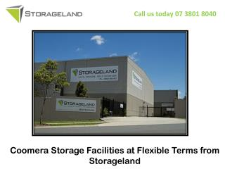 Coomera Storage Facilities at Flexible Terms from Storageland