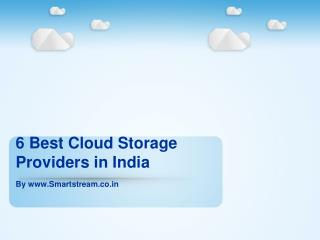 6 Best Cloud Storage Providers in India