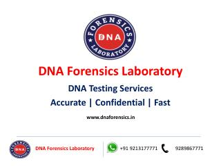 DNA Testing In India