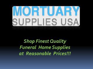 Shop funeral home supplies online