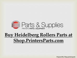 Buy Heidelberg KORD-64 Rollers at Shop.PrintersParts.com