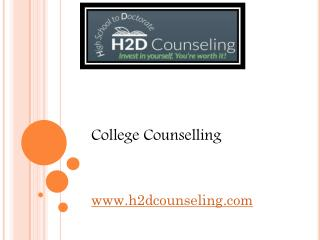 College Counselling - h2dcounseling.com