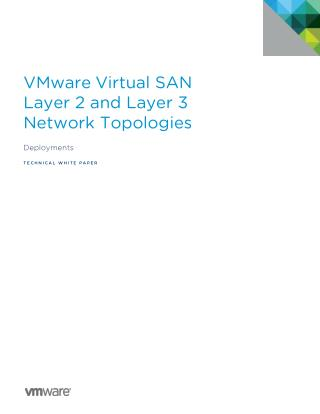 VMware Virtual SAN Layer 2 and Layer 3 Network Topologies