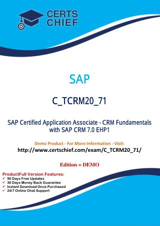 C_TCRM20_71 Exam Real Questions
