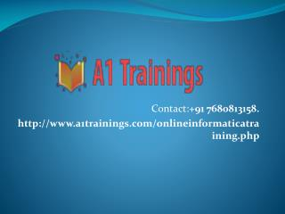 Informatica online training-course content