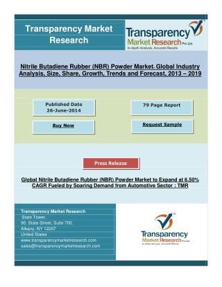 Nitrile Butadiene Rubber Powder Market Expands at 6.50% CAGR Fuelled by Soaring Demand from Automotive Sector