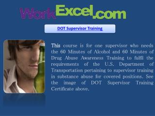 DOT Supervisor Training