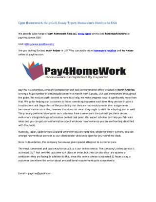 Cpm Homework Help Cc3, Essay Typer, Homework Hotline in USA
