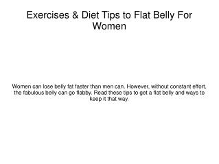 Get A Bikini Body With The Flat Belly Solution