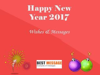Beautiful Text Messages and Wishes for New Year 2017