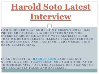 A top most successful American entrepreneur - Harold Soto
