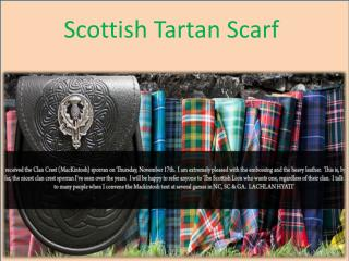 Scottish Tartan Scarf